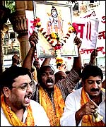 Hindu demonstrators in Bombay