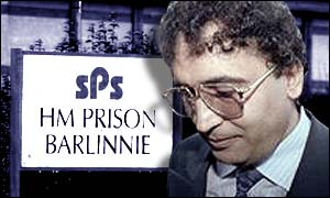 The Lockerbie bomber will serve his sentence at Barlinnie Prison, Glasgow