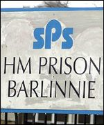 Barlinnie Prison sign