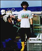 Garcia on fishing boat