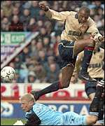 Vieira was in commanding form for Arsenal