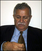 PUK leader Jalal Talabani (photo Hiwa Osman)