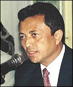 Marc Ravalomanana, the self declared president of Madagascar
