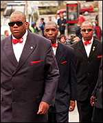 Nation of Islam activists at the Lawrence Inquiry