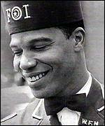 The young Farrakhan in Nation of Islam uniform