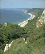 Beer Head landslip, BBC