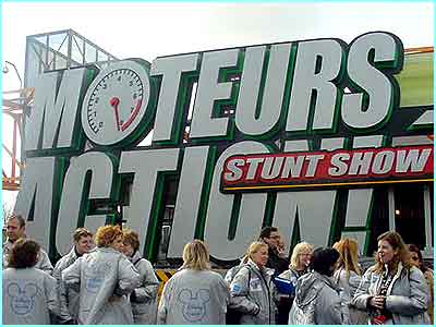 The Stunt Show is in the Back Lot area and is a live action show directed by James Bond stunt expert Remy Julienne
