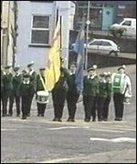 A disputed Hibernians parade passed off peacefully in Kilkeel