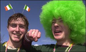 Green hair was in during Dublin's celebrations
