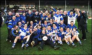 Ballinderry Shamrocks celebrate their All-Ireland Club win in Thurles on Sunday