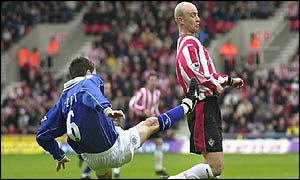 Southampton's Chris Marsden (right) challenged by Leicester's Muzzy Izzet at St Mary's Stadium, Southampton