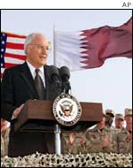 US Vice President Dick Cheney in Qatar