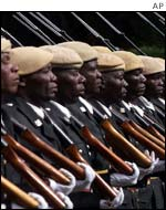 Zimbabwe soldiers' honour guard for presidential swearing-in