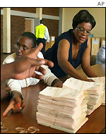 Vote counting in Zimbabwe
