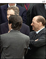 Blair with Berlusconi
