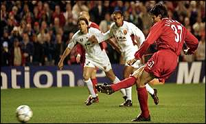 Jari Litmanen made no mistake from the penalty spot