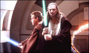 Neeson appearing in The Phantom Menace