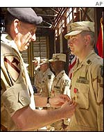 General Tommy Franks awards the Bronze Star