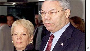 Carla Del Ponte and Colin Powell