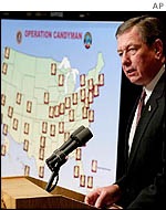 US Attorney General John Ashcroft briefing on
