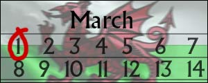 St David's Day bank holiday graphic
