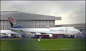SAA jet at Heathrow