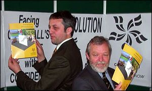 Dick Cole (left) and Bert Biscoe at the launch of the Cornish assembly blueprint