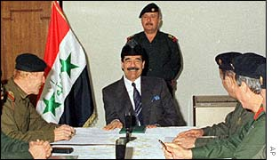Saddam Hussein meets his Revolutionary Command Council