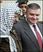 Yasser Arafat and Anthony Zinni