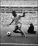 Jairzinho on his way to score for Brazil
