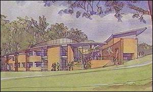 Artist's impression of the new Elmhurst School