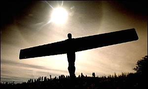 The Angel of the North, near Gateshead