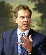 Tony Blair, whose constituency is in the North East