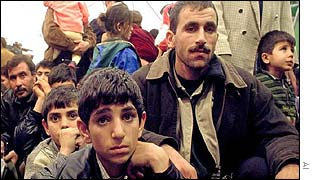 Kurdish refugees in Bari