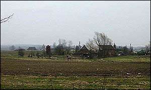 Polish land and farmhouse