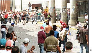 Clashes in Barquisimeto