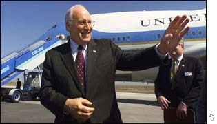 Dick Cheney at end of 12-country tour