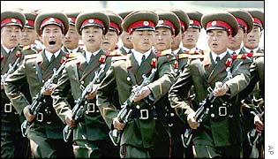 North Korean troops