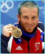 Alain Baxter with his bronze