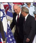 Cheney with Israeli FM Halfon on March 18
