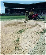The West Indies v England Test was abandoned in 1998