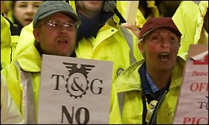 Picket line at Manchester Airport