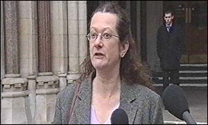 Miss B's solicitor Frances Swaine outside the High Court