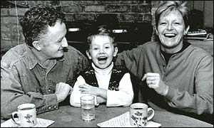 Veronica Guerin with her husband and son