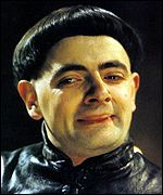 Actor Rowan Atkinson as the weasley Prince Edmund, the Black Adder.