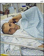 Israeli officer Erez Batat, who was injured in the Salem bombing