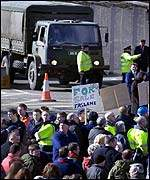 Faslane workers' protest