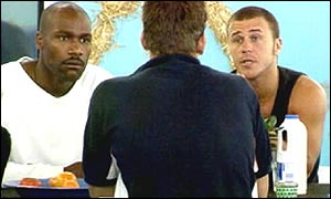 Craig and Darren confront Nick in UK Big Brother