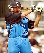 Ben Hollioake in action for Englang against Australia at the Oval, June 2001.