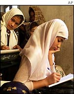 Girls at Mazar-e-Sharif school